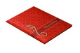 Hindu Satin Cloth Wedding Card RB 1426 RED