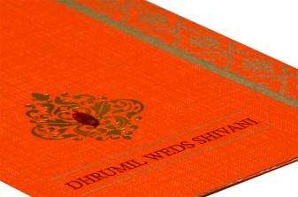 Orange Budget Wedding Card RB 1429 ORANGE