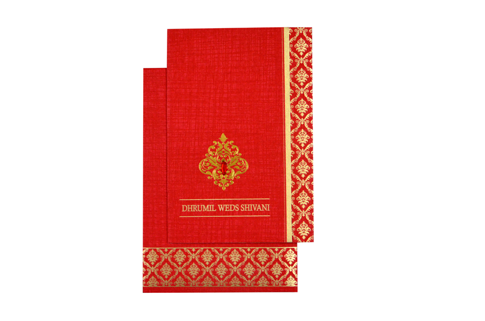 Red Budget Wedding Card RB 1429 RED