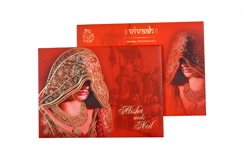 Dulhan Theme Wedding Card RB 1431