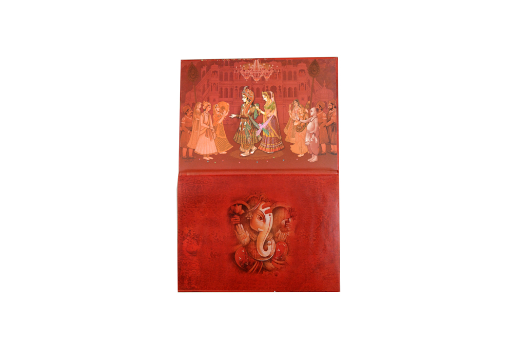 Dulhan Theme Wedding Card RB 1431