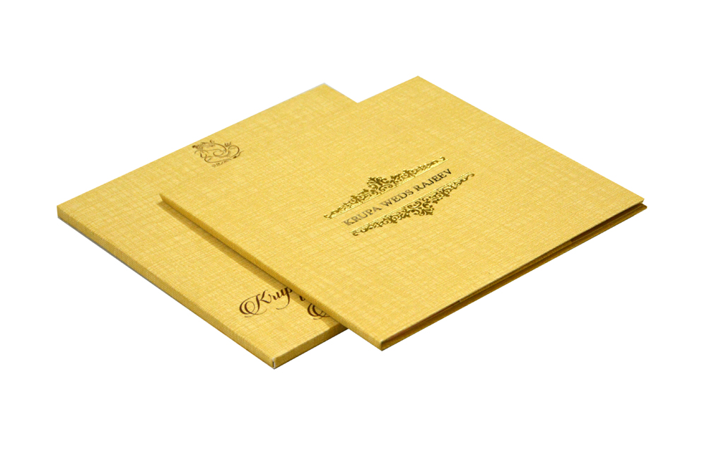 Padded Wedding Card RB 1440 GOLD