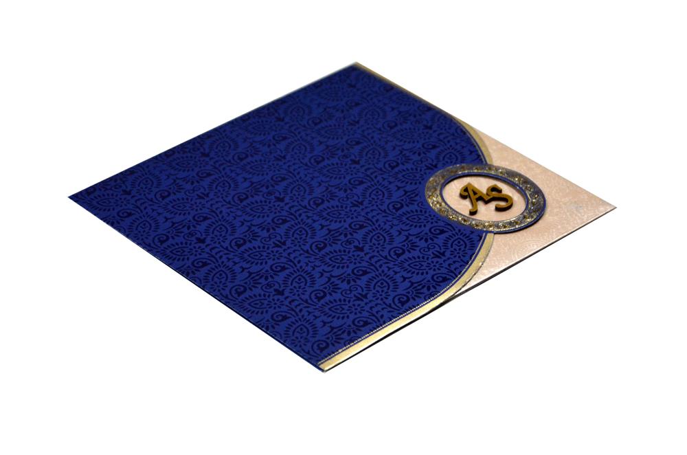 Budget Wedding Card RB 1456 BLUE