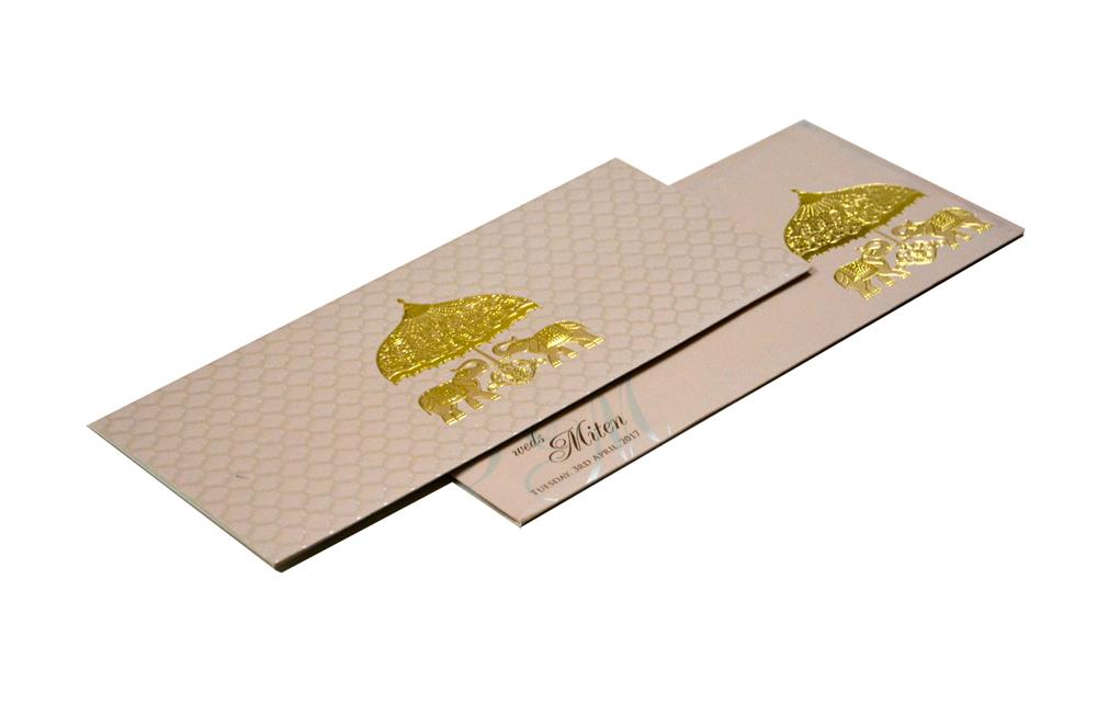 Elephant Theme Budget Wedding Card RB 1460 GREY