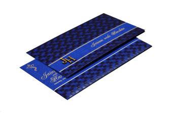 Budget Hindu Wedding Card Design RB 1463 BLUE