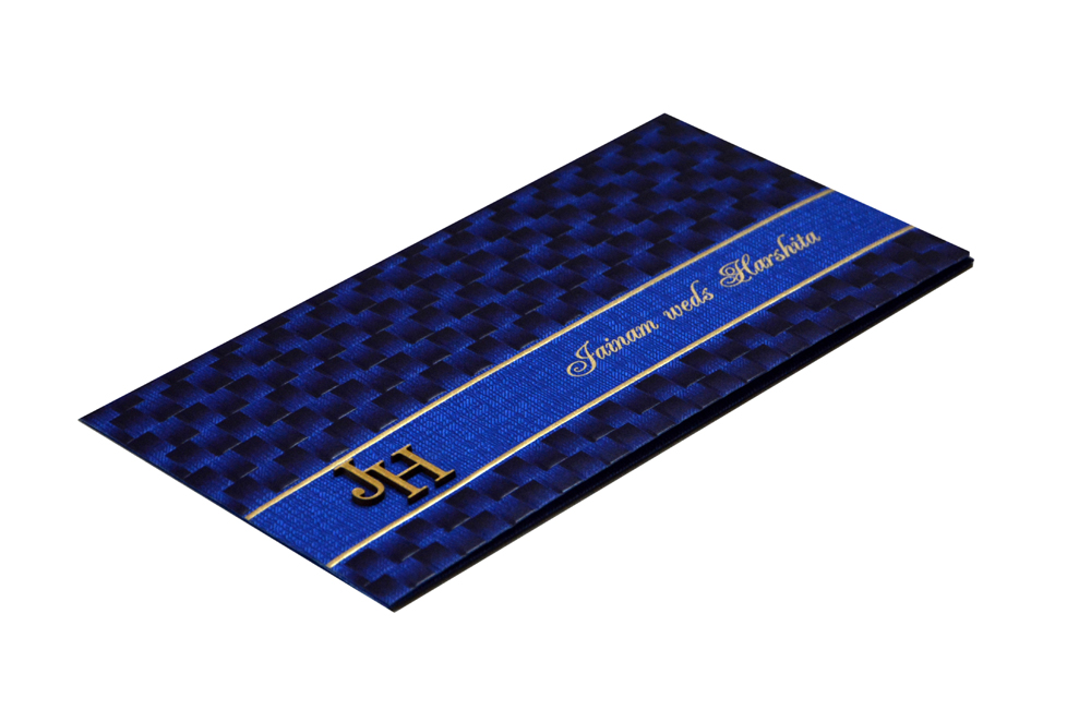Budget Hindu Wedding Card Design RB 1463 BLUE
