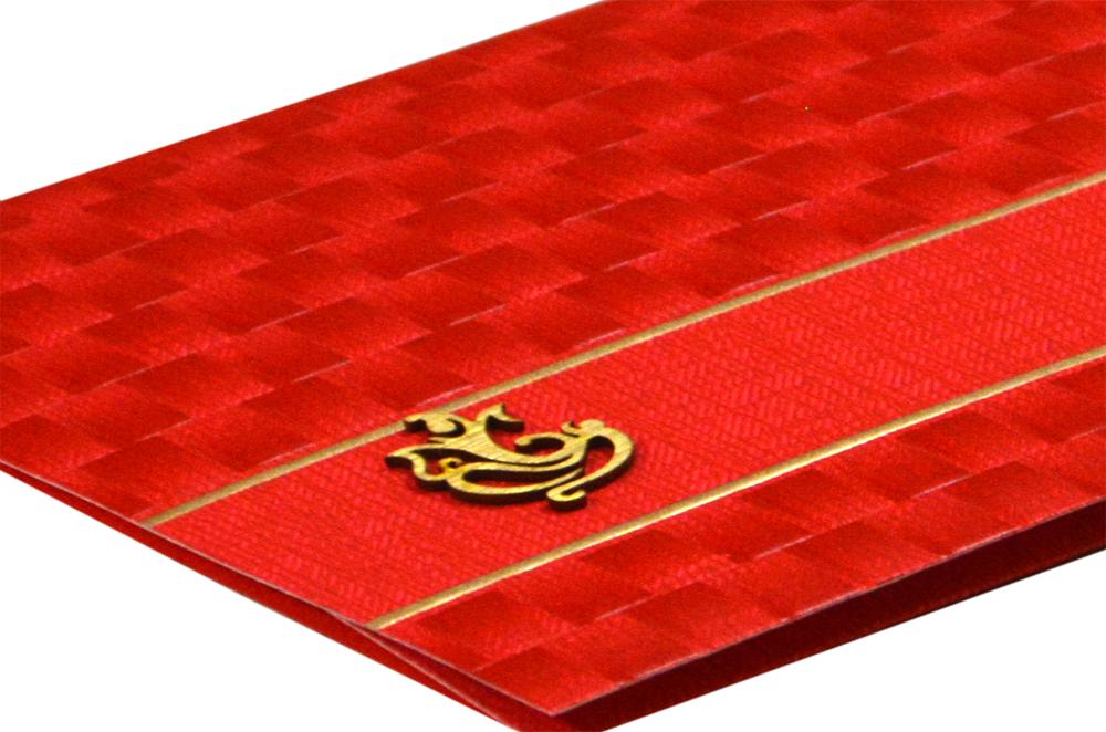 Budget Hindu Wedding Card Design RB 1463 RED