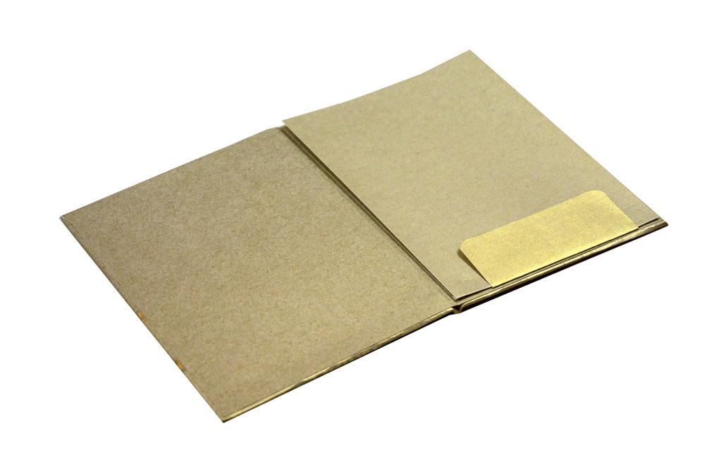 Padded Wedding Card RN 2090 ANTI GOLD