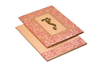 Hindu Padded Wedding Card RN 2093 PINK