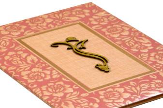 Hindu Padded Wedding Card RN 2093 PINK