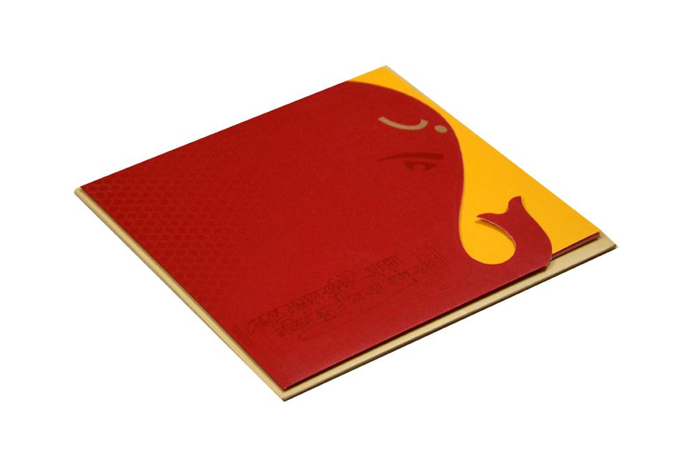 Designer Hindu Wedding Card RN 2104 RED
