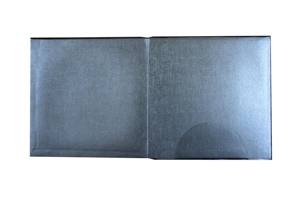 Silver Padded Hindu Wedding Card RN 2107