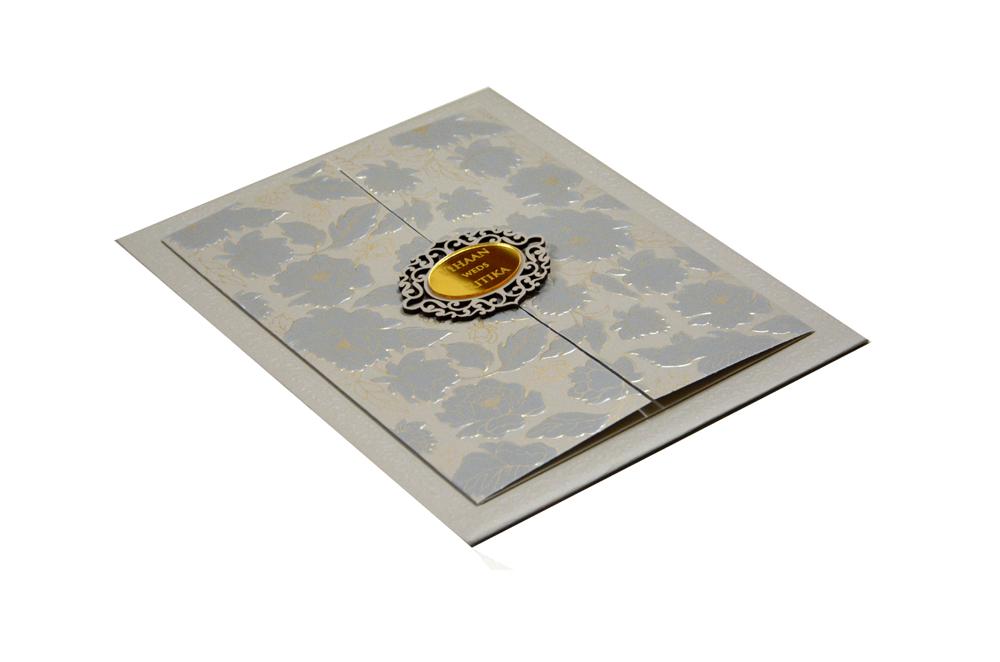Door Shape Wedding Card RN 2118