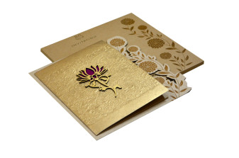 Flower Theme Wedding Card RN 2142