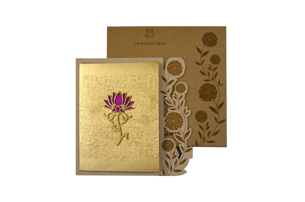 Flower Theme Wedding Card RN 2142