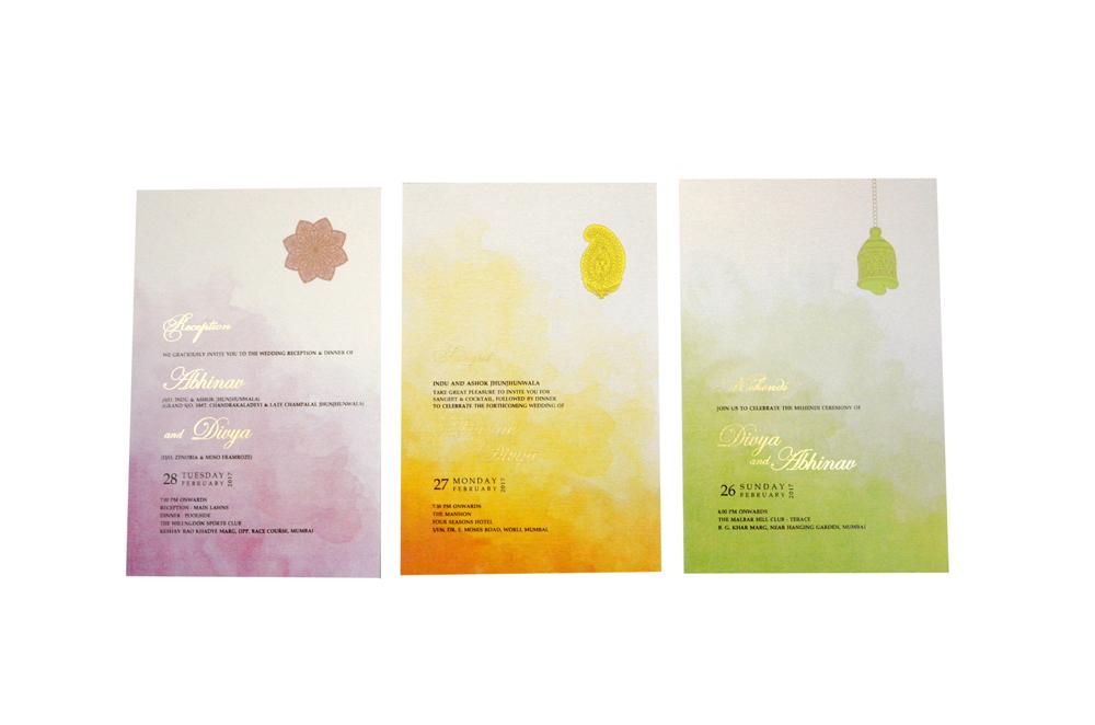 Flower Theme Wedding Card RN 2168