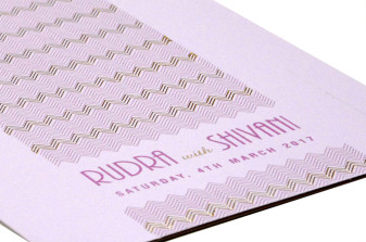 Designer Budget Wedding Card RN 2170 VIOLET
