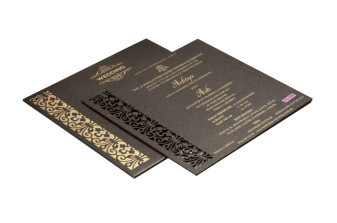 Brown Laser Cut Wooden Invitation RR 1354