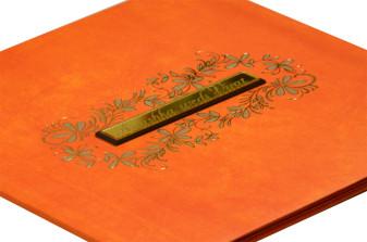 Orange Padded Wedding Card RR 162