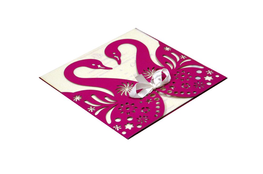 Designer Laser Cut Wedding Card RR 169