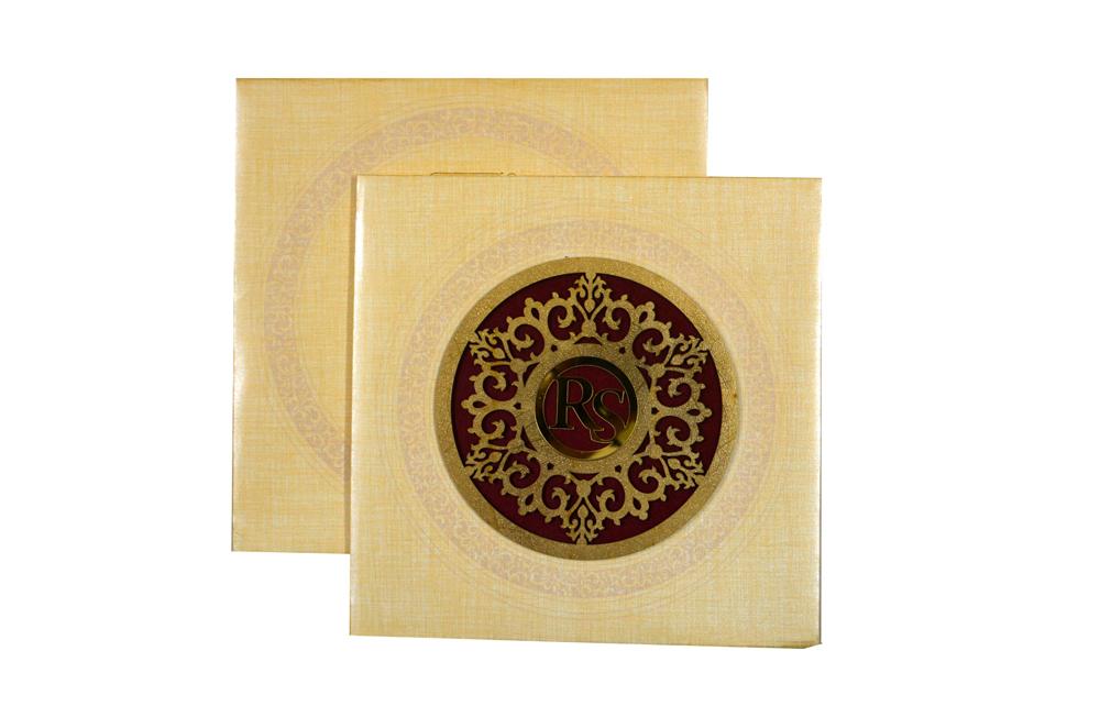 Padded Laser Cut Wedding Card RR 174