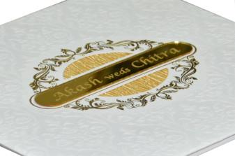 White Padded Wedding Card RR 599