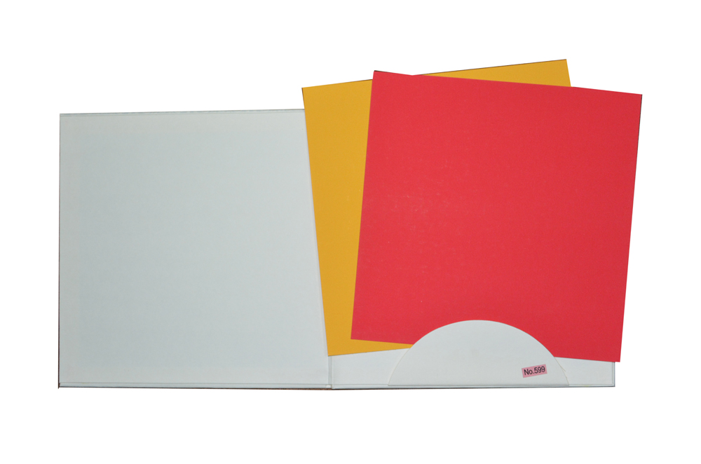 White Padded Wedding Card RR 599