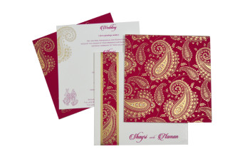Paisley or Keri Design Pink Wedding Card GC 1002