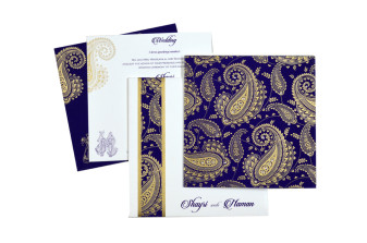 Paisley or Keri Design Purple Wedding Card GC 1003