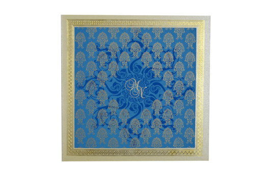 Blue Budget Wedding Card GC 1018
