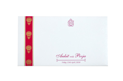 Pink Designer Wedding Card GC 1027