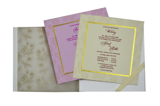 Floral Theme Wedding Card Design GC 1029
