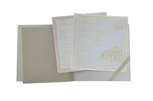 Umbrella Theme Designer Wedding Card GC 1035