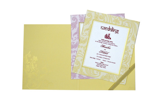 Designer Wedding Card GC 1036