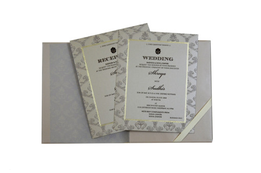 Biscuit Designer Padded Wedding Card GC 1055