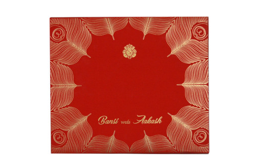 Royal Peacock Theme Wedding Card GC 1061