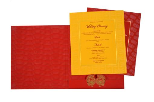 Royal Peacock Theme Wedding Card GC 1061