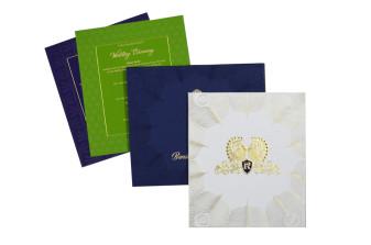 Royal Peacock Theme Wedding Card GC 1062