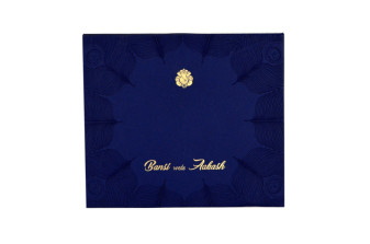 Royal Peacock Theme Wedding Card GC 1062