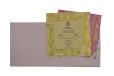 Pink Flower Cut Wedding Card Design GC 1065