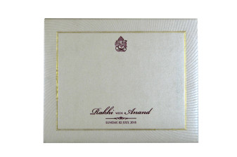 White Padded Wedding Card GC 1069