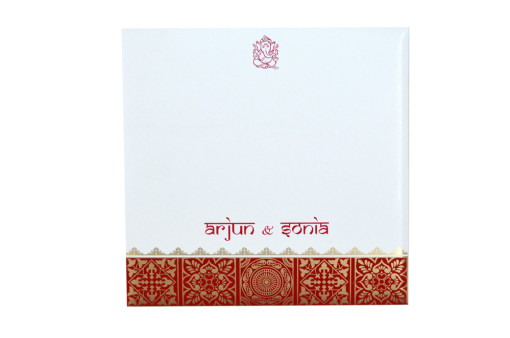 Red Designer Wedding Card GC 2001