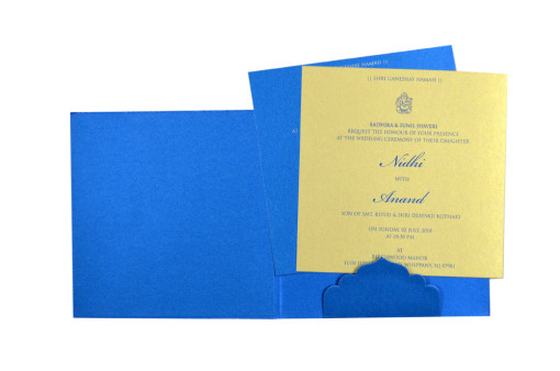 Blue Budget Wedding Card GC 2003