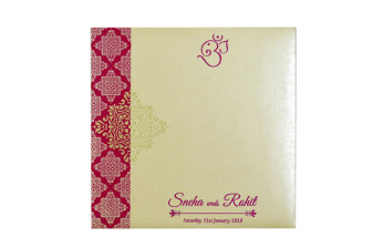Pink Designer Budget Wedding Card GC 2009