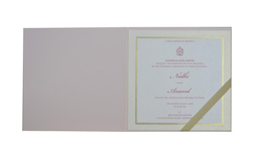 Peach Elephant Theme Budget Wedding Card GC 2012