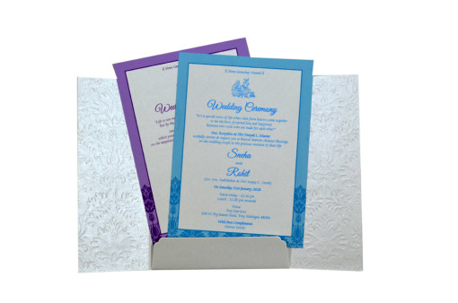 Centre Opening Designer Wedding Card GC 2013