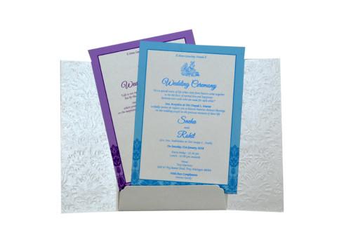 Centre Opening Designer Wedding Card GC 2013