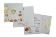 Floral Theme Wedding Card GC 2014