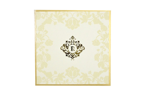 Cream Designer Wedding Card GC 2015