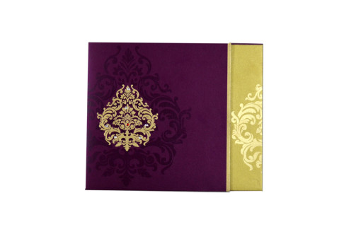 Maroon Budget Wedding Card GC 2017